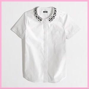 J. CREW FACTORY   Jewel Collar Button Down Shirt